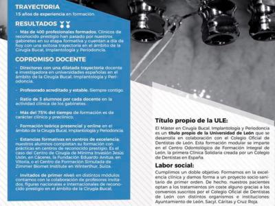 Máster en Cirugía Bucal, Implantologia y Periodoncia de la Universidad de León. (2019 - 2020)